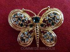"""Broche """"Papillon"""" N° 6 Nuit Jour Entomologie Ciselé Bordé - Bijoux pur Bestiaire"""