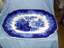 "J. & G. Alcock Oriental Stone Flow Blue Circassia Pattern Platter 16 x 12 1/2"""