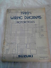 SUZUKI - WIRING DIAGRAMS BOOK - FOR LOTS OF SUZUKI'S 1982