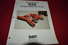 Massey Ferguson 233 Disc Harrow Dealer's Brochure DCPA