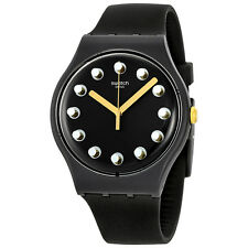 Swatch Passe Temps Dark Grey Silicone Mens Watch SUOM104