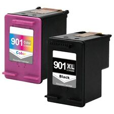 2PK HP 901 XL 901 Black & Color Ink Cartridge For Officejet J4500 J4550 J4640