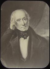 Glass Magic Lantern Slide PORTRAIT OF WILLIAM WORDSWORTH C1890 DRAWING
