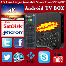 PRO Quad Core Android 4.4 TV Box FREE Keyboard 4K Sports Film Movie MX M8S UK