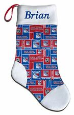 NEW Personalized NHL NY New York Rangers Hockey Christmas Stocking Gift