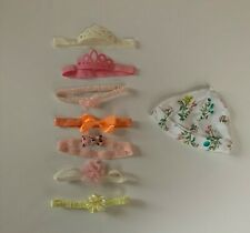 Baby girl headband bows lot & hat 8 pc lot