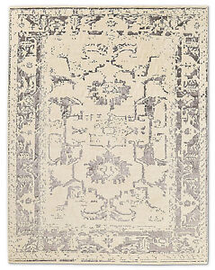 Restoration Hardware Arte Ivory / Charcoal Hand Knotted Rug 6x9 Wool $4189