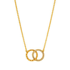 Genuine PANDORA Circles Necklace 14K Gold Plated 396235CZ