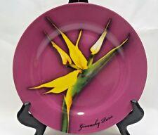Givenchy Paris Parfums Salad Plate Purple Background Yellow Bird of Paradise