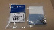 L-COM BA035 75 Ohm BNC Female / Male / Female Coaxial T Adapter Lot of 2