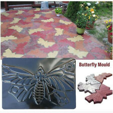 Large Butterfly Shaped Stepping Stone Plaster Concrete Mold for Garden Yard DIY