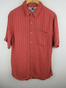 The North Face Mens Shirt Size L Short Sleeve Button Up Regular Fit Check