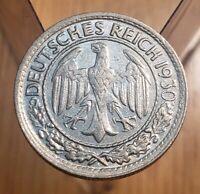 1930-G Germany-Weimar Republic 50 Reichspfenning--Scarce Date