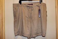 GLORIA VANDERBILT MOLLY Casual/Dress Khaki Tan Light Rayon Shorts Elastic 18W