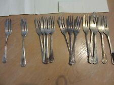 EPNS Silverware lot - 14 forks - Cake, Pickle, Pastry, Dessert, Silver Plated