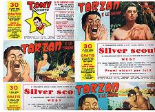 Avventura film TARZAN E LE SIRENE Strisce fotofilm 1952 ed. Victory COMPLETA