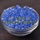 25pcs 6mm Cube Square Faceted Crystal Glass Loose Spacer Beads Light Blue