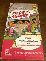 The Berenstain Bears No Girls Allowed VHS VCR Video Tape Movie Used Cartoon