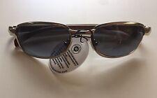 Vtg 90s 2000s Silver & Faux Wood Frame Sunglasses Rectangular Deadstock