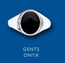 Ringe mit Edelsteinen für Geburtstage echten Onyx