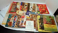 Lot Of 40 Vintage COOKBOOKS Recipe Booklets Pamphlets Food Meal Planning Cookery