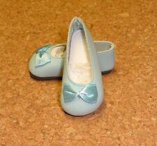 Doll Shoes, 64mm LIGHT BLUE Slip ons fit MSD BJDs Kish 4 seasons Kay Wiggs Layla