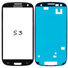 Frontglas Für Samsung Galaxy S3 i9300 Front Display Glas Schwarz + Klebefolie