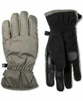 Isotoner Mens Smart Dri Fleece Lined Touch Screen Winter Gloves Gray L