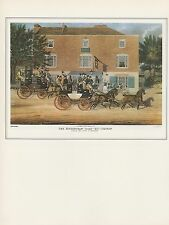 "1974 Vintage COACHING ""BIRMINGHAM TALLY-HO COACHES"" AT HOLLOWAY COLOR Lithograph"