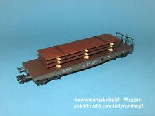 Ladegut H0 – Stahlplatten-Stapel (L=100 mm) für Märklin, Trix Schwerlastwagen
