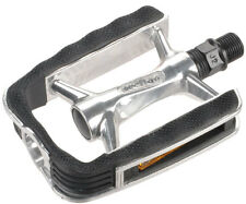 Pair of Wellgo C220 Alloy Rubber Trekking MTB Bike Pedals 9/16 Black / Silver