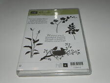 Stampin Up World of Dreams CLEAR Mount Stamp Set of 6 NEW Silhouette Flower Bird