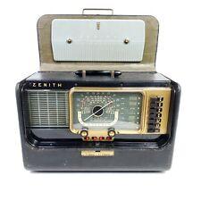 Vintage Zenith Trans-Oceanic Tube Radio Wave Magnet World Band Model H500 Works