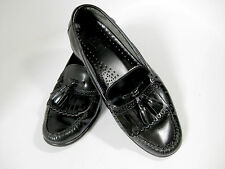 GH Bass Loafers Shoes 9 D Black Leather Kiltie Tassel Moc Toe Dress