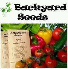 HEIRLOOM Spring Vegetable Seed Mix, 10 individually packed VEGGIE GARDEN STARTER