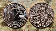 Litecoin Crypto 1oz. Pure Copper Bullion Round!!