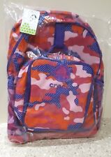 Girls School Bag. CROCS Backpack With matching Lunch box/ Bag. Pink Camouflage.