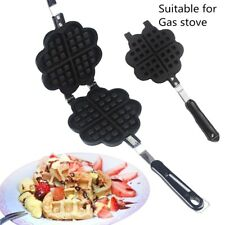 Waffle Maker Stainless Steel Heart Shaped Nonstick Maker Baking for Gas stove