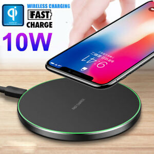 Qi Wireless Fast Charger Charing Pad Mat Dock for iPhone XS Max X Huawei Mate 20