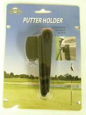 On Course Putter Holder With Ball Marker (Black, Clip On Golf Bag Accessory) New