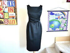 Whistles black satin pencil / work suit dress ~ UK 8 ~ EU 36 ~ WORN ONCE