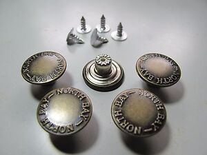 Jeans Buttons 17mm brass jeans button