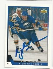 93/94 Upper Deck Autographed Hockey Card Richard Smehlik Buffalo Sabres