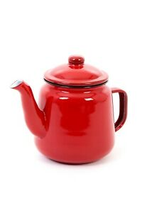 Enamel Teapot 1.5L with Handle and Lid (Various Colours)