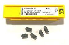 Kennametal Evolution Carbide Cut Off Insert Ec040m04r06cr02 Grade Kcu25 5 Pack