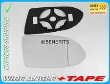 Wing Mirror Glass For Vauxhall Zafira A 1999-05 Wide Angle +BP+TAPE Right /F017