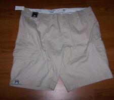 Chaps Oxford Cloth Flat Front Mens Green Shorts Size 34 X 10