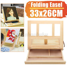 Table Easel Desk Wooden Artist Craft Painter Folding Portable Stand w/ Draw
