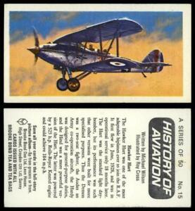 Hawker Hart #15 History Of Aviation 1972 Brooke Bond Tea Card