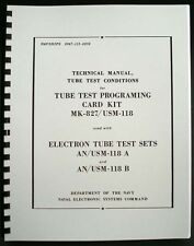 133 Page 1968 Tube Test Conditions For Hickok Cardmatic Tube Testers Anusm 118